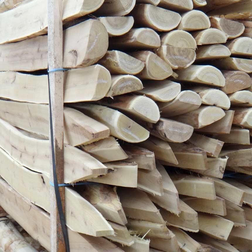 Baumpfahl halbrund aus Akazienholz