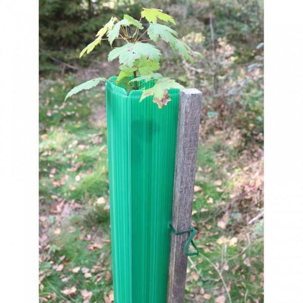 MonoTube 120 cm, grün - Baumschutzhülle mit Drahtanbinder